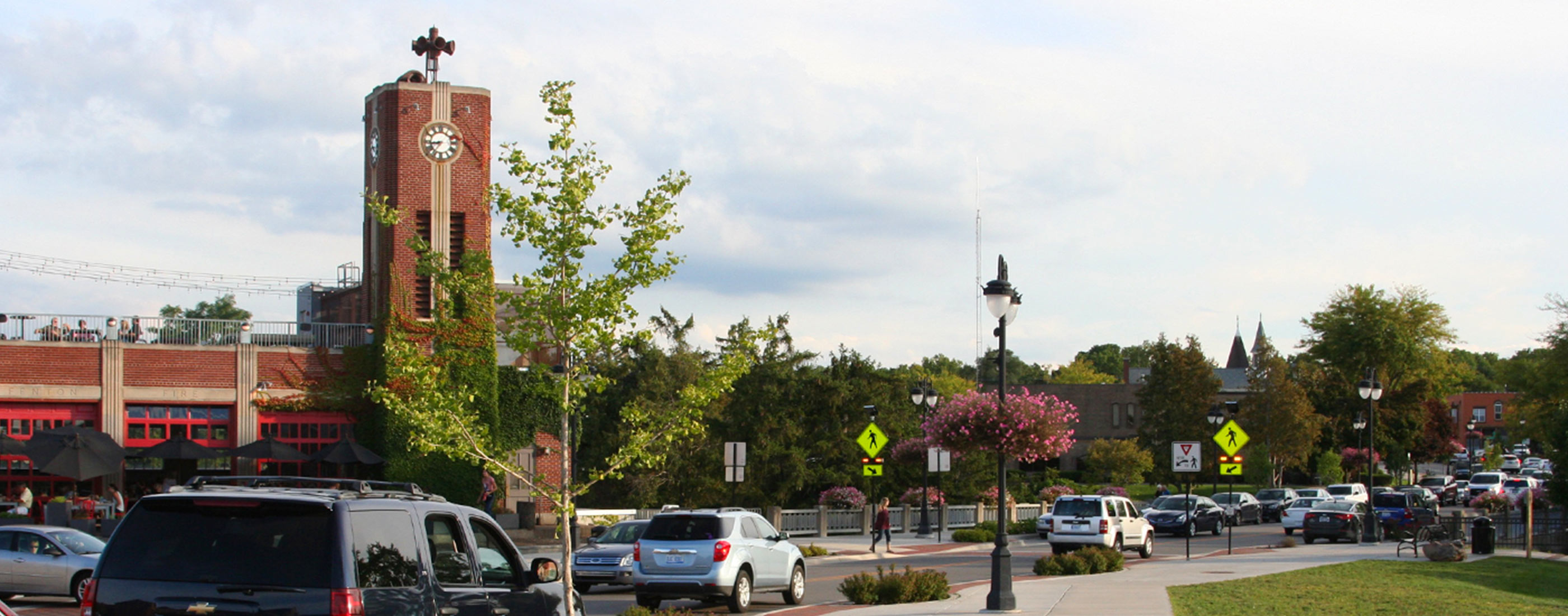 Fenton, Michigan's downtown streetscape and road rehabilitation project, led by OHM Advisors, addressed both pedestrian and parking needs.