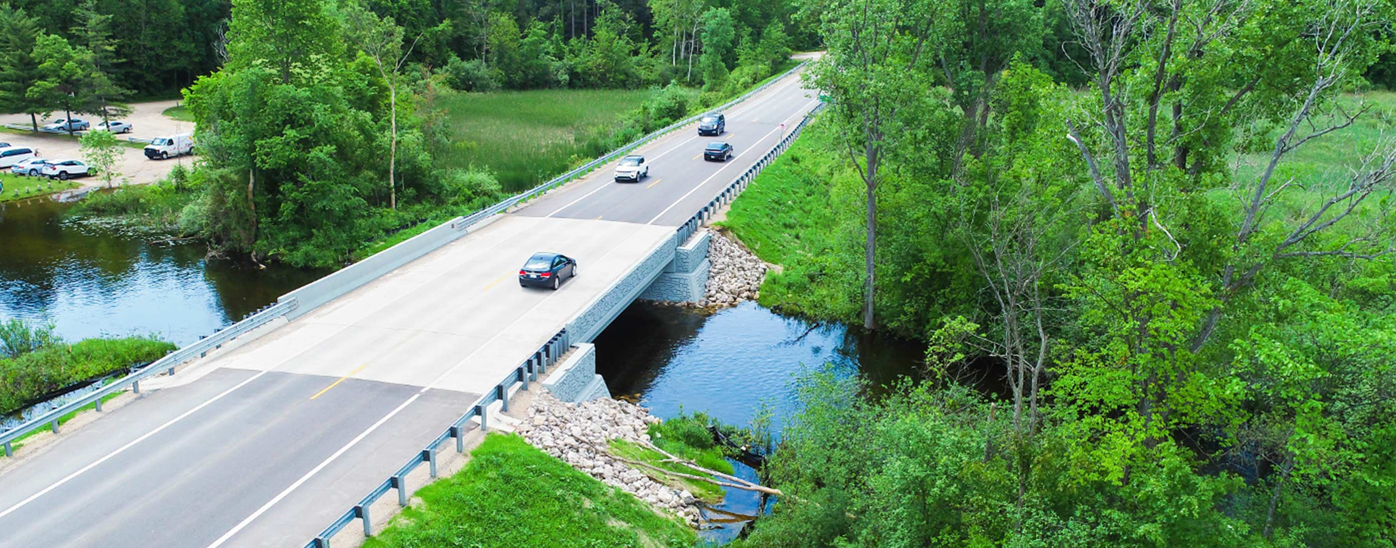 The Wixom Road bridge replacement increased shoulder width providing more safety for drivers.