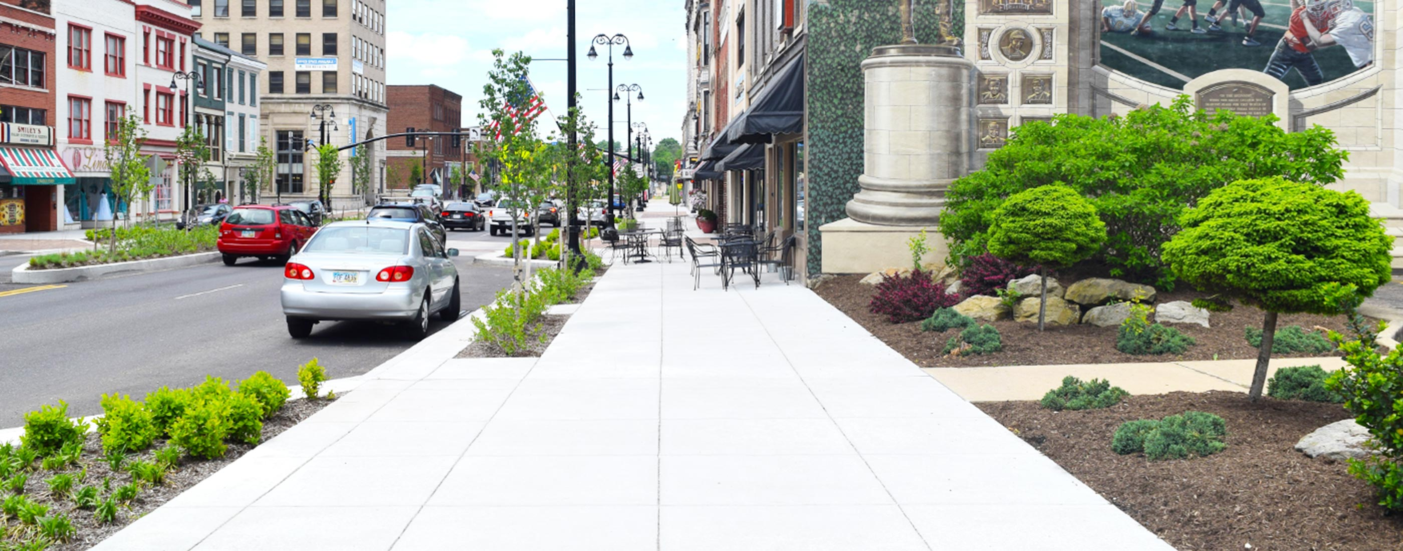 Sidewalk 2 in Massillon streetscape