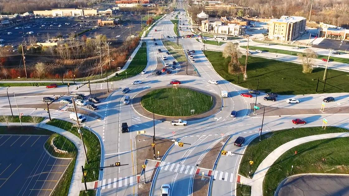 Oakland County, Michigan's Northwestern Connector Triangle, designed by OHM Advisors.