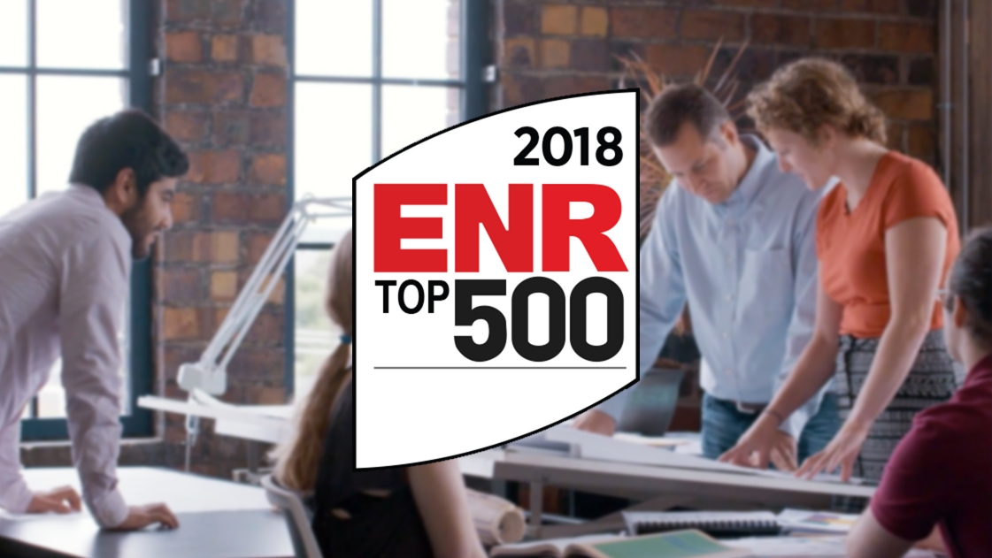 OHM Advisors ranked #274 on ENR's 2018 Top 500 Design Firms list