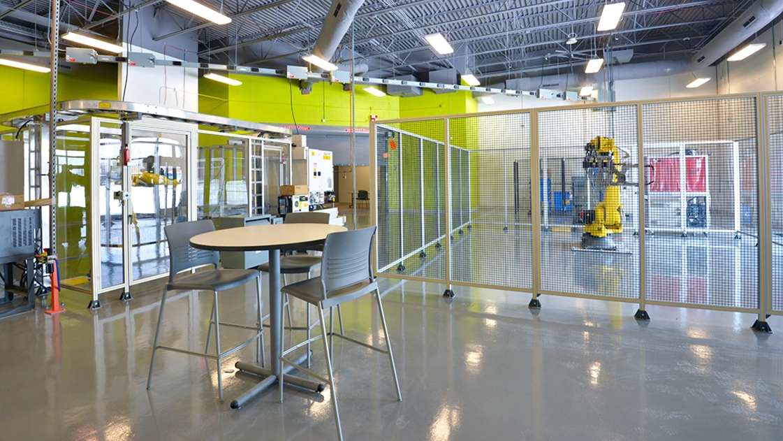Marysville's STEM High School, designed by OHM Advisors, features state-of-the-art technology to promote 21st-century learning.