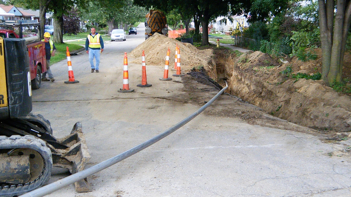 OHM Advisors uses trenchless technology to repair and replace underground pipes.