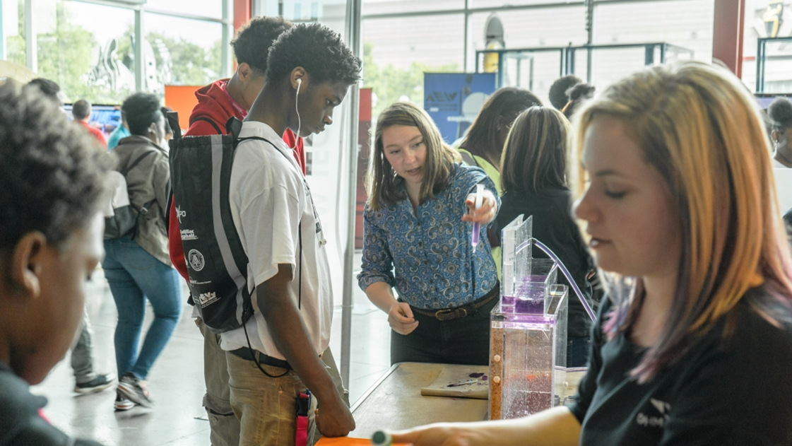 Students at Detroit Construction Science Expo