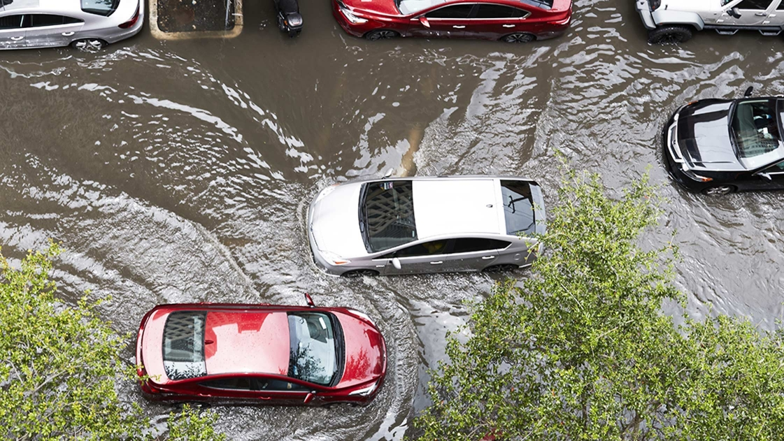 Cars stranded in flood waters in Detroit could be the result of neglected infrastructure.