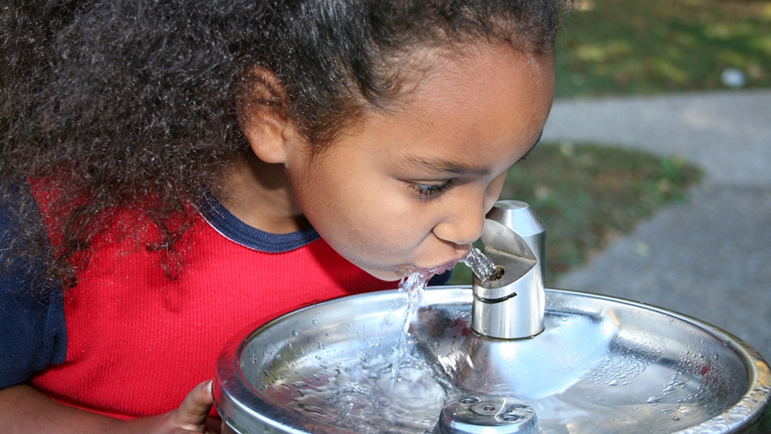 Header image for PFAS blog girl drinking water