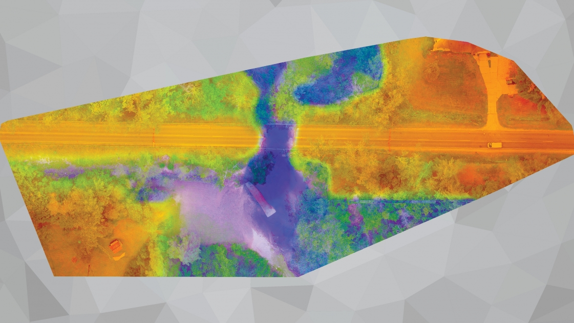 Midland County Surface Imagery Produced by Combining GIS and UAS Technologies