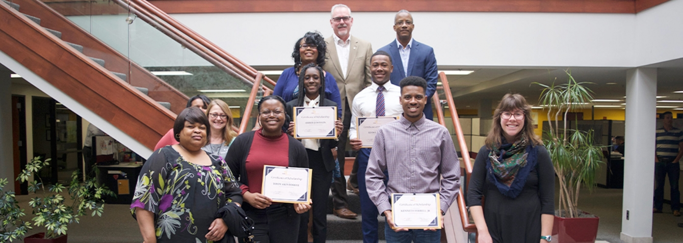 Diversity Scholarship Winners in Livonia office of OHM Advisors