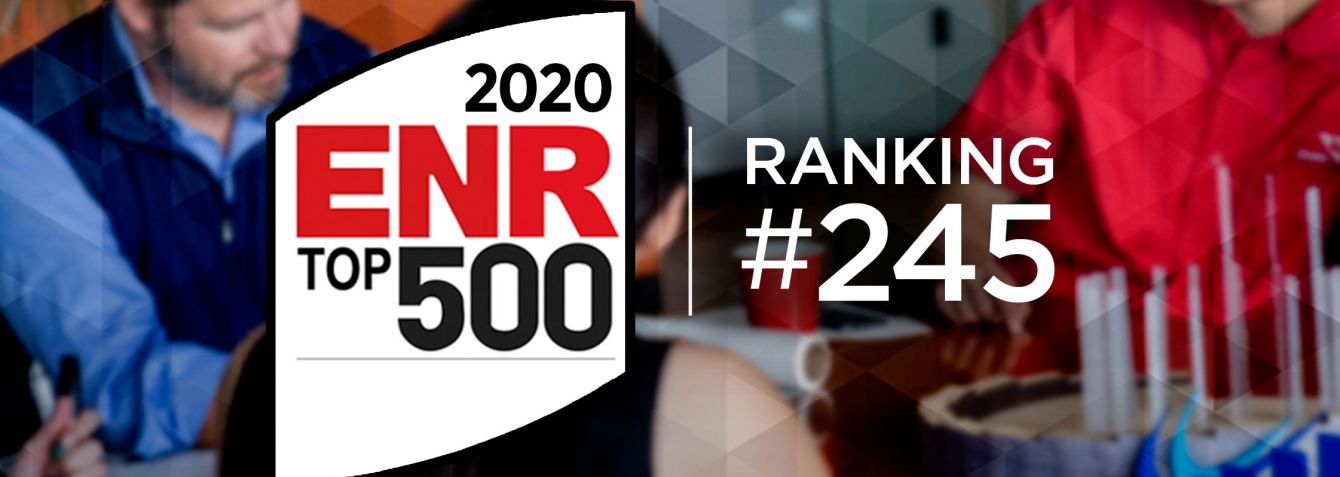 OHM Advisors ranked #245 on ENR's 2020 Top 500 Design Firms list