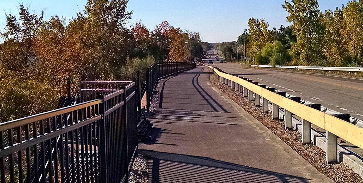 The new Novi Metro Connector Trail, created by OHM Advisors, provides safer traveling pathways for bicyclists and pedestrians.