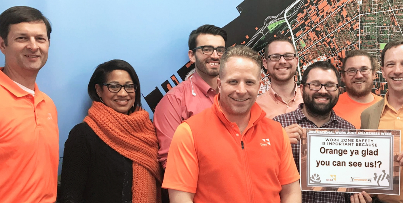The OHM Advisors Cleveland team supports the National Work Zone Awareness Week.