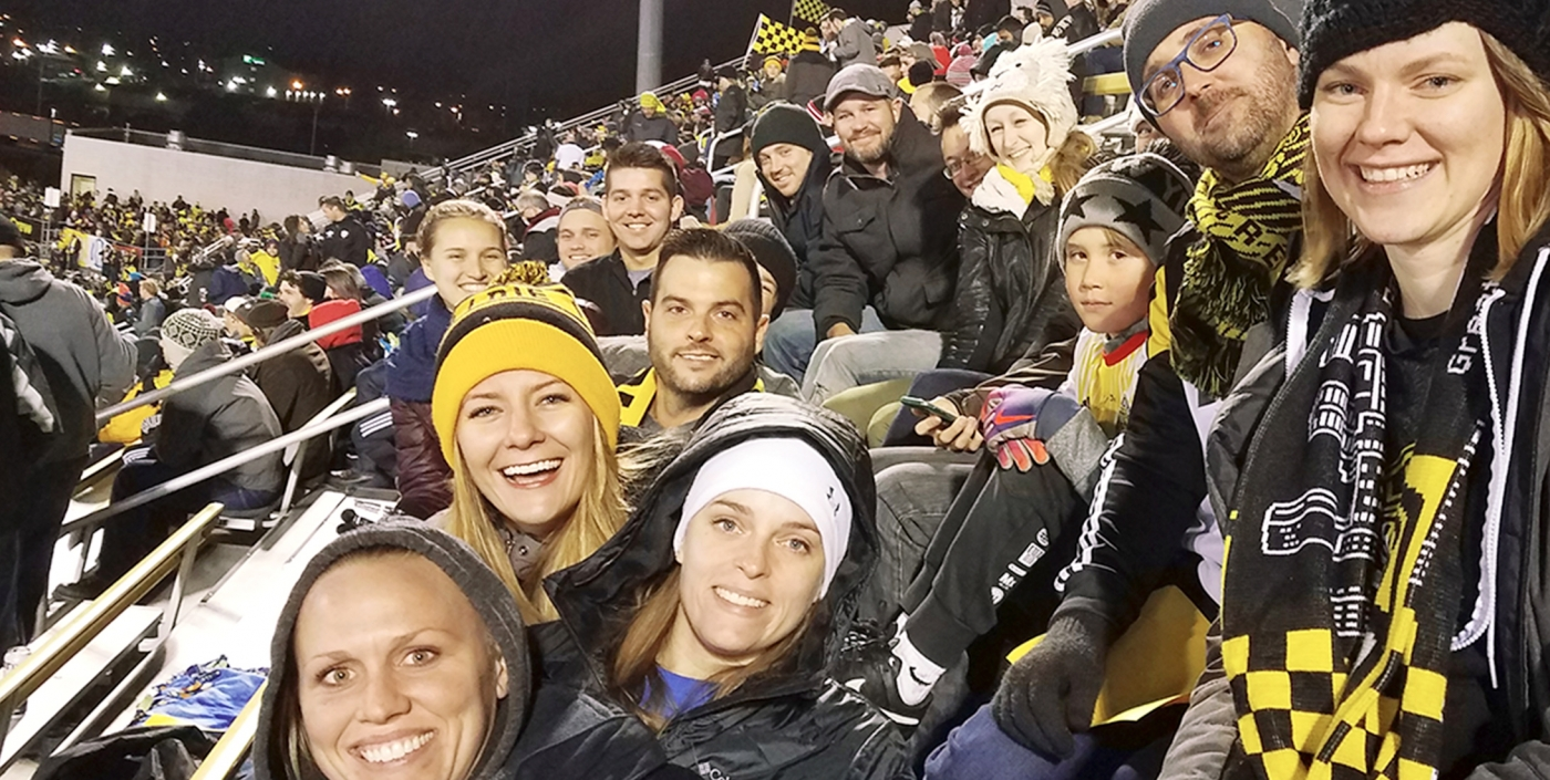 The OHM Advisors Columbus team attends a Crew Playoff Game.