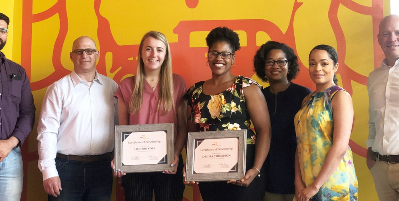 2020 OHM Advisors Diversity Award winners at the recognition ceremony in our Cleveland office.