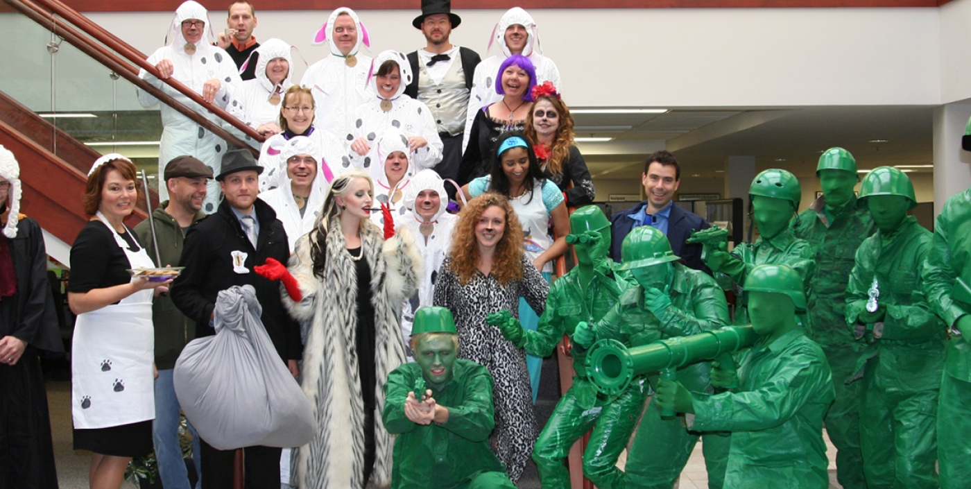 Our innovation isn't limited to client work, as evident by the annual Halloween costume contest.