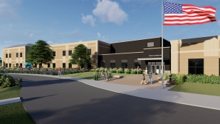 Rendering of future Dublin Jerome Village Middle School