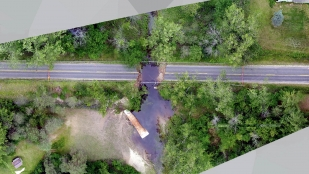 Drone photography captured the damage caused by flooding in Midland, Michigan.