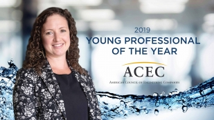 OHM Advisors engineer Lindsey Kerkez was selected as a 2019 ACEC Young Professional of the Year.