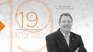 OHM Advisors' 2019 Employee of the Year, Eric Bischoff.