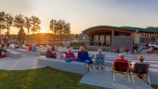 City of Green, Ohio celebrates Central Park grand opening with OHM Advisors.