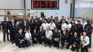 OHM Advisors' team member Craig Dashner joins the Michigan Task Force 1 deployment to assist hurricane rescue efforts