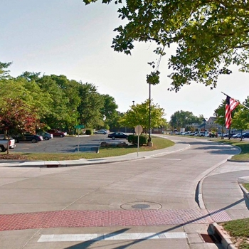 Huron, Ohio's updated streetscape by OHM Advisors includes new traffic signage.