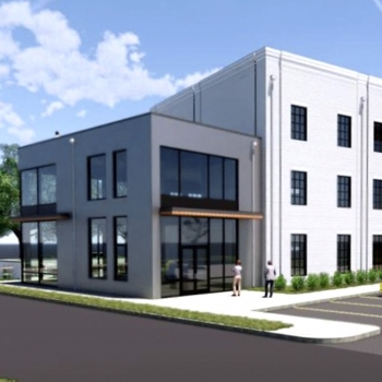 The proposed three-story Bernard Center to be located in Nashville's Arts District.