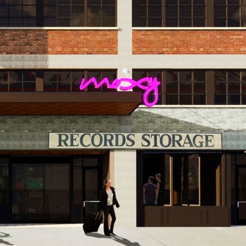 The proposed exterior of the Marriott Moxy Broadway hotel.
