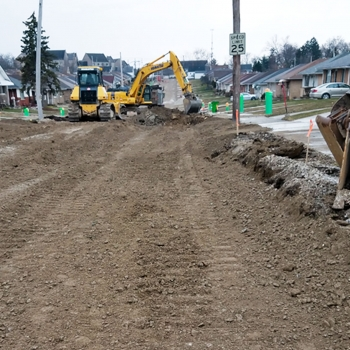 Phase 1-2 construction to upgrade infrastructure in Garfield Heights Neighborhoods.