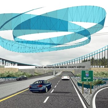 A newly-imagined gateway for Detroit Metro Airport travelers.