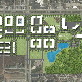 The City of Livonia's current civic campus will serve as a future downtown, designed by OHM Advisors.
