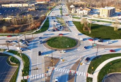 Oakland County, Michigan's Northwestern Connector Triangle, designed by OHM Advisors, relieves traffic congestion