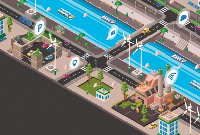 Smart cities use the Internet of Things (IoT) to prevent water quality issues.