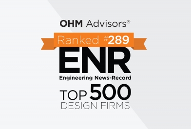 OHM Advisors ranked No. 289 in Engineering News-Record's 2017 Top 500 Design Firms list.