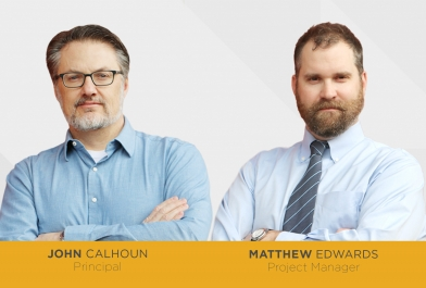 OHM Advisors welcomes architects John E. Calhoun, Jr. and Matthew Edwards.