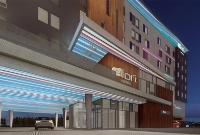 Our newly designed Aloft Hotel in Columbus, Ohio.