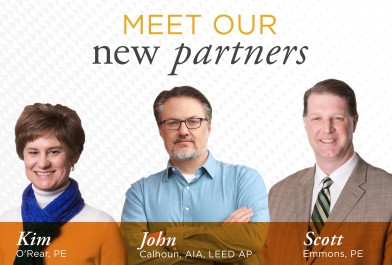 Meet our newest employee partners, Kim O'Rear, John Calhoun and Scott Emmons.