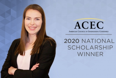OHM Advisors' Engineer, Alisha Stidam wins ACEC National Scholarship
