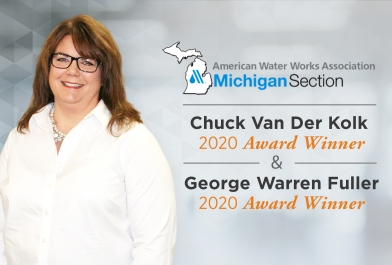 Christine Spitzley AWWA MI Fuller and Van Der Kolk Awards