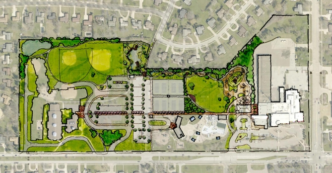 Beachwood Town Center Park's proposed conceptual plan