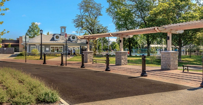 OHM Advisors helped design a promenade and connected walkways at Northam Park.