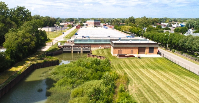 The Chapaton Retention Treatment Basin in Macomb County, Michigan.