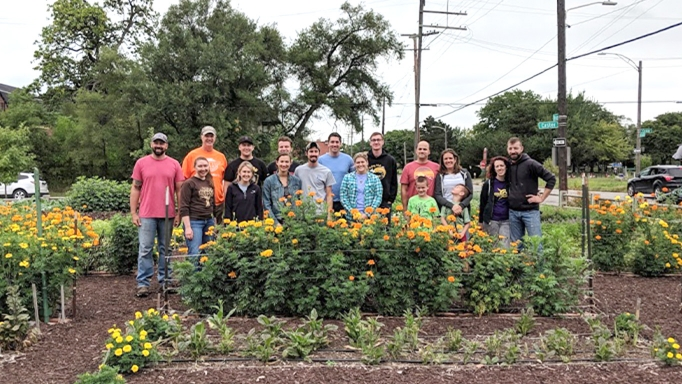 OHM Advisors gives back by volunteering at places like the Community Garden in Detroit.