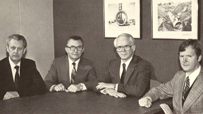The principals of OHM Advisors back in the 1960s.
