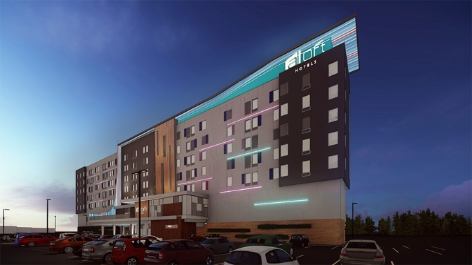The Aloft Columbus will offer inviting nightlife activities and captivating views of downtown.