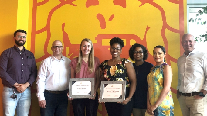 2019 Diversity Scholarship Recipients in Cleveland office of OHM Advisors.