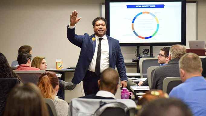 Dr. Damon A. Williams conducts ongoing educational seminars about diversity.